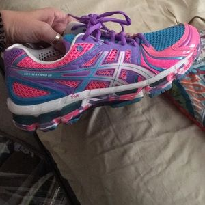 ASIC running shoes.